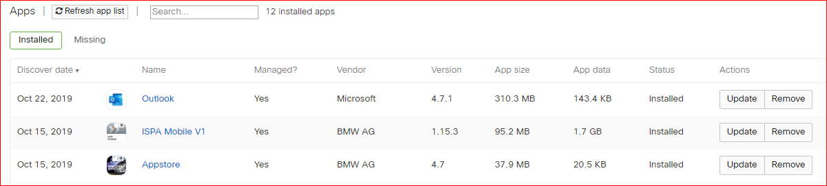 BMW Enterprise Apps